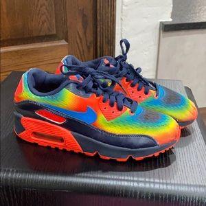 Boys Size 4 Rainbow Air Max 90